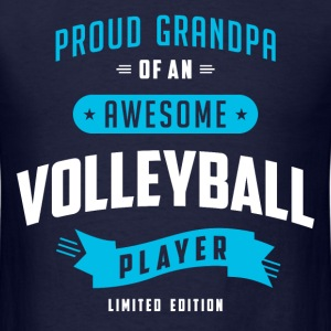 Grandpa Awesome Volleybal T-Shirts - Men's T-Shirt