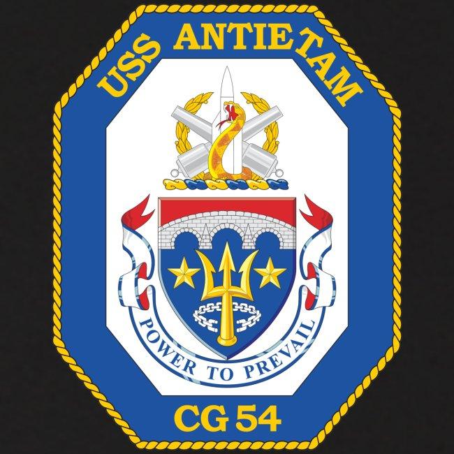 USS ANTIETAM CG-54 HOODIE with SLEEVE TEXT