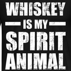 Whiskey Spirit Animal T-Shirts - Men's Premium T-Shirt