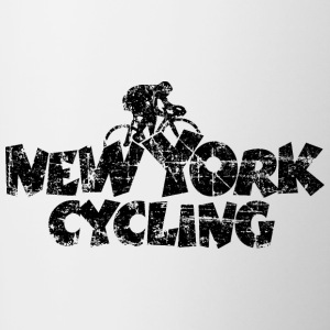 New York Cycling Vintage Black Mugs & Drinkware - Contrast Coffee Mug