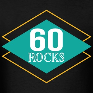 60th Birthday Retro 60 Rocks T-Shirts - Men's T-Shirt