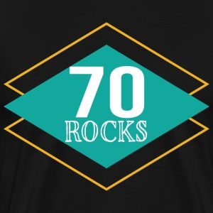 70th Birthday 70 Year Old Rocks Vintage T-Shirts - Men's Premium T-Shirt