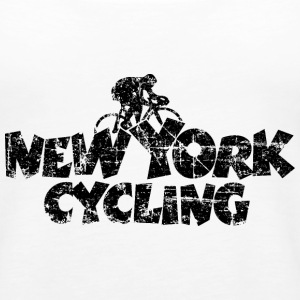 New York Cycling Vintage Black Tanks - Women's Premium Tank Top