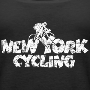 New York Cycling Vintage White Tanks - Women's Premium Tank Top