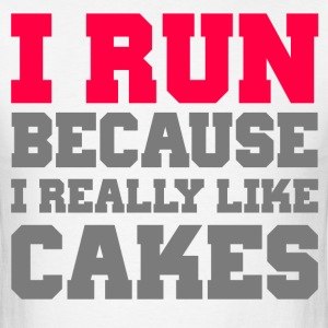 I run because i really like cakes workout gym wod - Men's T-Shirt