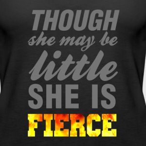 Though she may be little she is fierce wod gym - Women's Premium Tank Top