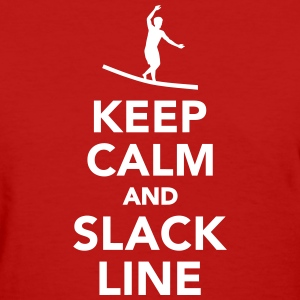 Keep calm and Slackline Women's T-Shirts - Women's T-Shirt
