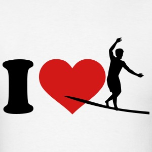 I love Slackline T-Shirts - Men's T-Shirt