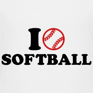 I love Softball Kids' Shirts - Kids' Premium T-Shirt