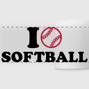I love Softball Mugs & Drinkware - Panoramic Mug