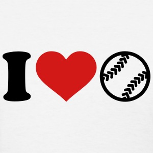 I love Softball Women's T-Shirts - Women's T-Shirt