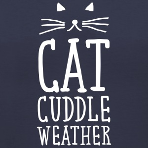 Cat Cuddle Weather Women's T-Shirts - Women's V-Neck T-Shirt