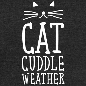 Cat Cuddle Weather T-Shirts - Unisex Tri-Blend T-Shirt by American Apparel