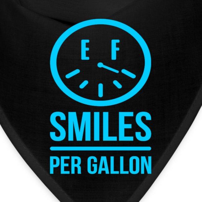Smiles Per Gallon Bandana