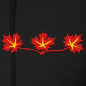 Red Maple Leaves Canadian Standard Symbol Zip Hoodies & Jackets - Men's Zip Hoodie