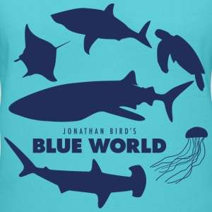 Blue World Women's V-Neck T-shirt - Women's V-Neck T-Shirt