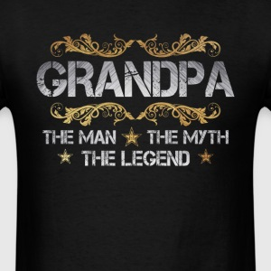 Grandpa T-shirt - Grandpa, The Man, The Myth - Men's T-Shirt
