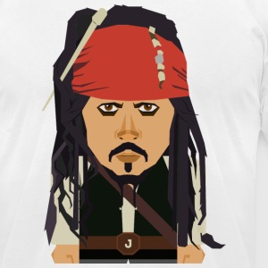 Jack Sparrow - Men's T-Shirt by American Apparel