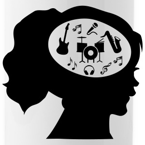 Only Music On My Mind Mugs & Drinkware - Water Bottle
