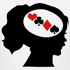 Gambler; Only Poker On My Mind Women's T-Shirts