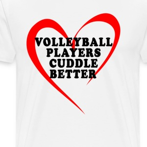 valentine_volleyball_players_cuddle_better - Men's Premium T-Shirt