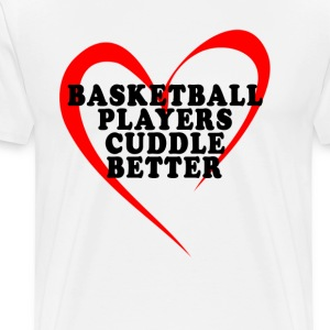 valentine_basketball_players_cuddle_better - Men's Premium T-Shirt