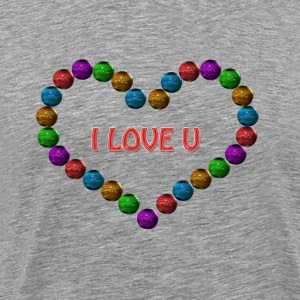 pearls heart - Men's Premium T-Shirt