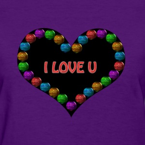 heart i love u - Women's T-Shirt