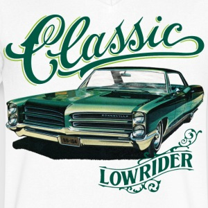 classic lowrider T-Shirts - Men's V-Neck T-Shirt by Canvas