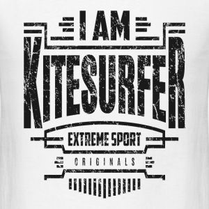 I Am Kitesurfer Black Art - Men's T-Shirt