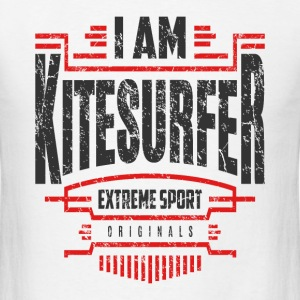 I Am Kitesurfer Red Black Art - Men's T-Shirt
