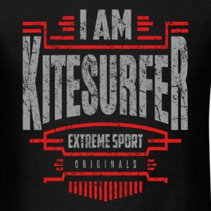 I Am Kitesurfer Red White Art - Men's T-Shirt