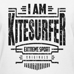I Am Kitesurfer Black Art - Women's T-Shirt