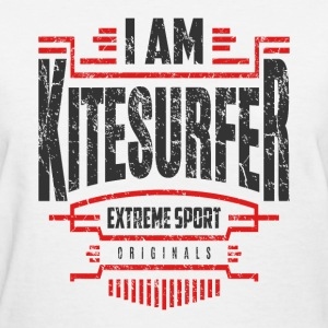 I Am Kitesurfer Red Black Art - Women's T-Shirt