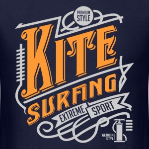 Kitesurfing Retro White Yellow Art - Men's T-Shirt