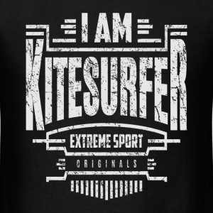 I Am Kitesurfer White Art - Men's T-Shirt