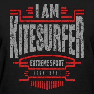 I Am Kitesurfer Red White Art - Women's T-Shirt