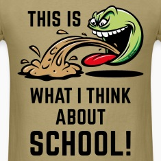 This Is What I Think About School! (PNG) T-Shirts