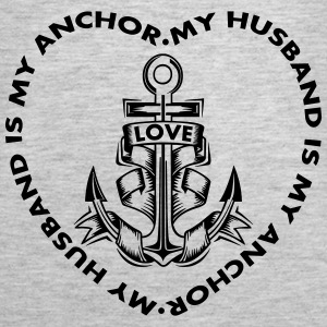 My Husband Is My Anchor Tanks - Women's Premium Tank Top