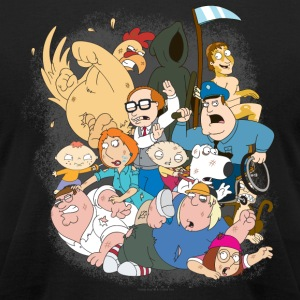 Family Guy Characters T-Shirts - Men's T-Shirt by American Apparel