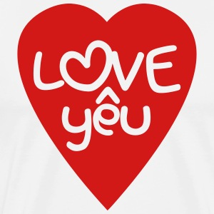 Vietnamese Valentine ♥ Love Yêu ♥ Asian Wordplay T-Shirts - Men's Premium T-Shirt