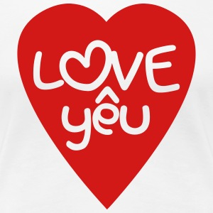 Vietnamese Valentine ♥ Love Yêu ♥ Asian Wordplay Women's T-Shirts - Women's Premium T-Shirt