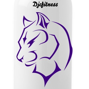panther DJCfitness Logo Mugs & Drinkware - Water Bottle
