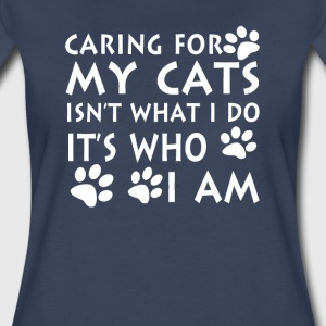 Caring for my cats - Women's Premium T-Shirt