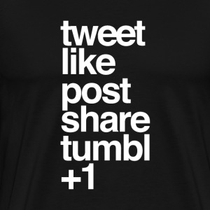 tweet&like - Men's Premium T-Shirt