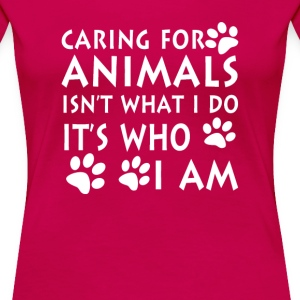 Caring for animals - Women's Premium T-Shirt