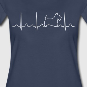 Scottish Terrier Heartbeat - Women's Premium T-Shirt