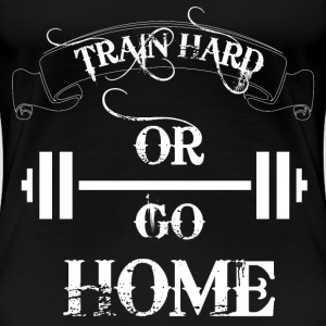 Train Hard Bodybuilding Women's T-Shirts - Women's Premium T-Shirt