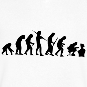 NERD EVOLUTION T-Shirts - Men's V-Neck T-Shirt by Canvas