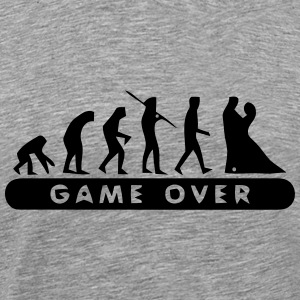 MARRIAGE - GAME OVER T-Shirts - Men's Premium T-Shirt
